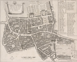 A mapp of the parish of St Giles's in the Fields (1720)